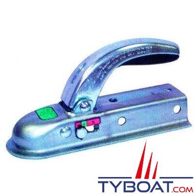 Tête d'attelage tôle pour tube 60 x 60 mm PTC 1400 Kg