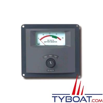Volmètre analogique BEP Marine 3 parcs de batteries 12v (8-16v)