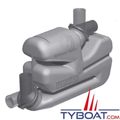 Waterlock Vetus type LSG Ø 90mm 17L pour grande longueur d'échappement