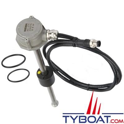 Wema - Jauge mixte eau / carburant N3 - NMEA2000 - Longueur 350 mm - filetage BSP 1 1/4