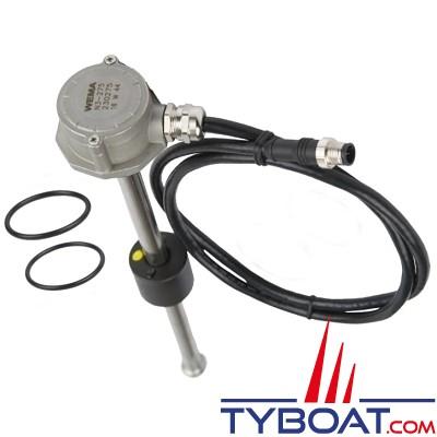 Wema - Jauge mixte eau / carburant N3 - NMEA2000 - Longueur 550 mm - filetage BSP 1 1/4
