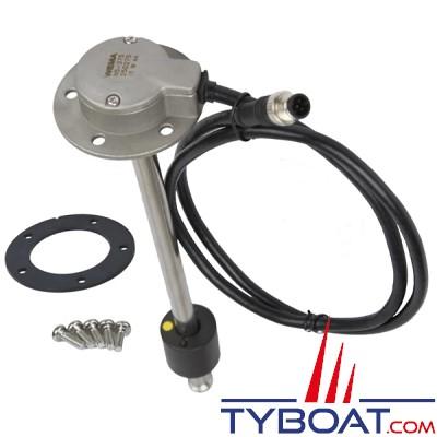 Wema - Jauge mixte eau / carburant N5 - NMEA2000 - Longueur 350 mm