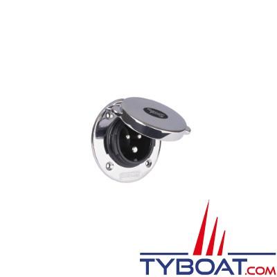 Whisper Power - Prise de quai - inox avec couvercle - 16 Ampères