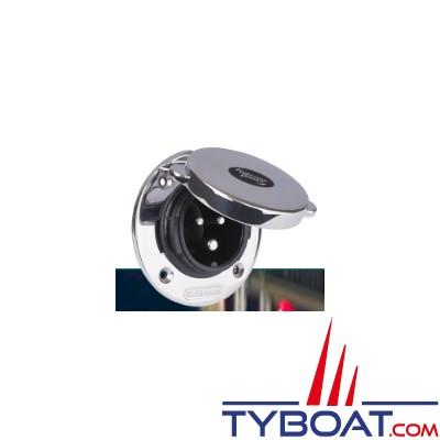 Whisper Power - Prise de quai - inox avec couvercle - 32 Ampères