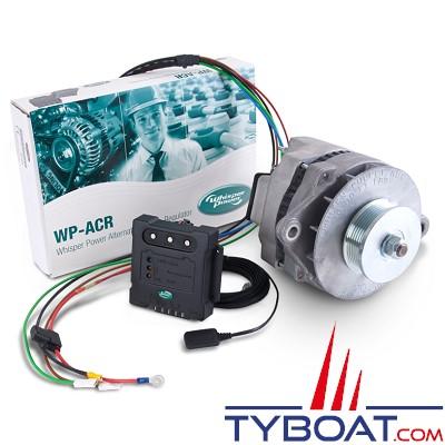 Whisper Power - Système alternateur WP-DC Beltpower + régulateur ACR + poulie - 12 volts 160 Ampères