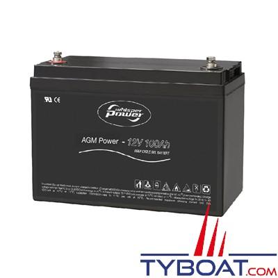 WhisperPower - Batterie AGM - 12 Volts 100 Ampères
