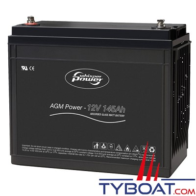 WhisperPower - Batterie AGM - 12 Volts 145 Ampères
