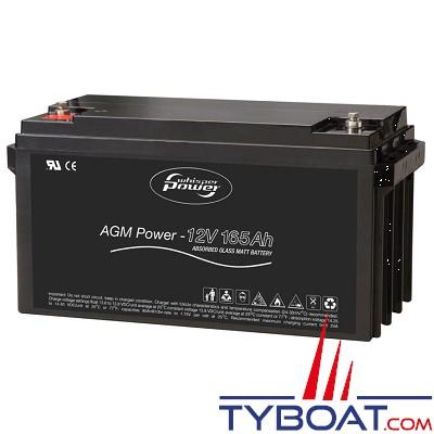 WhisperPower - Batterie AGM - 12 Volts 165 Ampères