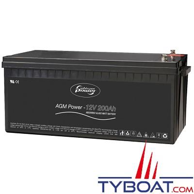WhisperPower - Batterie AGM - 12 Volts 200 Ampères
