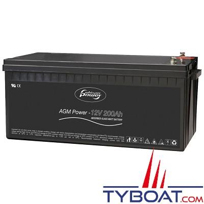 WhisperPower - Batterie AGM - 12 Volts 260 Ampères