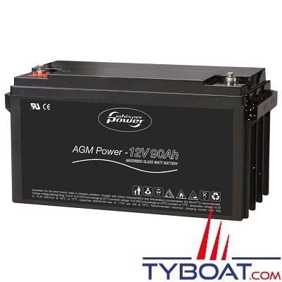 WhisperPower - Batterie AGM - 12 Volts 90 ampères