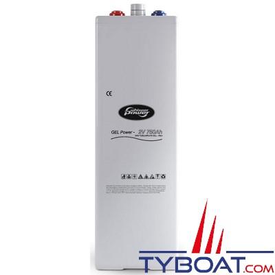 WhisperPower - Batterie gel 2V - 750Ampères