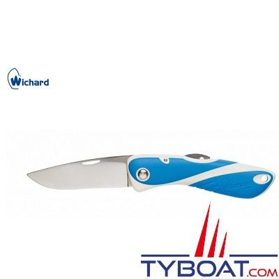 Wichard - Couteau aquaterra lame crantée - Blanc/bleu