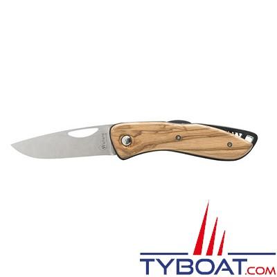Wichard - Couteau aquaterra lame lisse - bois