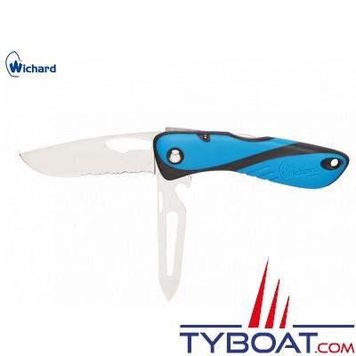 Wichard - Couteau offshore - Démanilleur/décapsuleur/epissoir - Bleu/noir