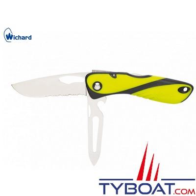 Wichard - Couteau offshore - Démanilleur/décapsuleur/epissoir - Jaune/noir