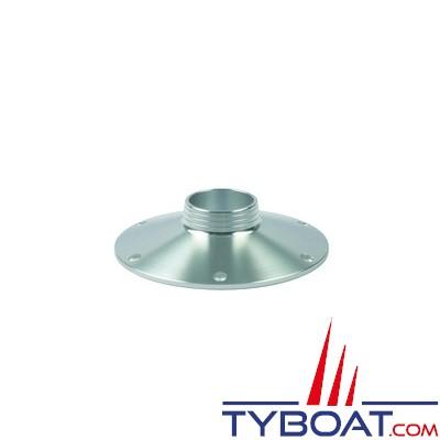 Zwaardvis - Embase alu anodisé polishé ø250mm pour colonne ø 76mm