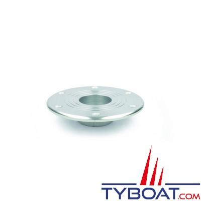 Zwaardvis - Embase anodisée flush ø176mm - H 146mm pour colonne ø60mm