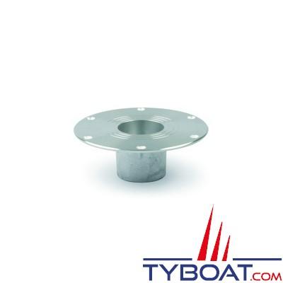 Zwaardvis - Embase anodisée flush ø180mm - H 155mm pour colonne ø60mm