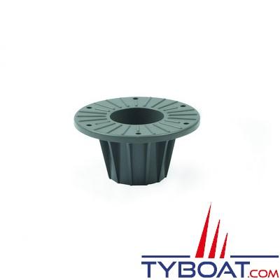 Zwaardvis - Embase flush en delrin ø140mm profondeur 120mm pour colonne ø60mm