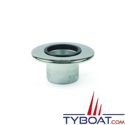 Zwaardvis - Embase flush ø140mm profondeur 95mm pour colonne ø60mm + cache inox