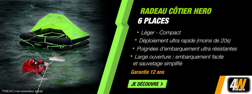 For Water - Radeau côtier HERO 6 places - Containe